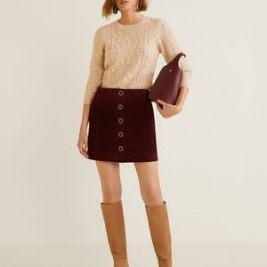 NWT Mango Leather Skirt